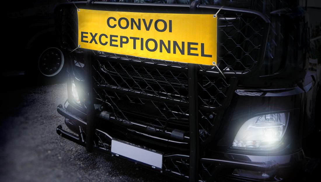 Warntafel Convoi Exceptionnel